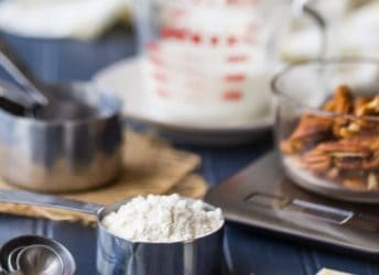 How to measure ingredients properly for baking.