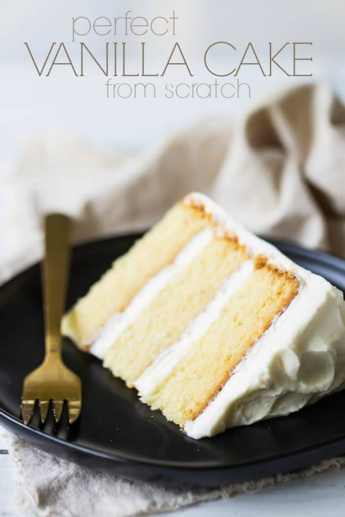 b521abefbea Perfect Vanilla Cake Recipe- so moist   easy to make! -Baking a Moment
