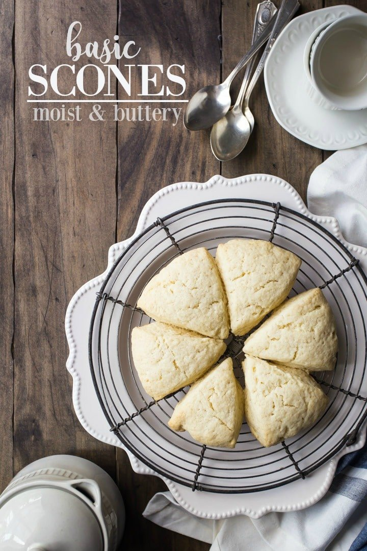 Soft, moist scone recipe that's easy to make and versatile.