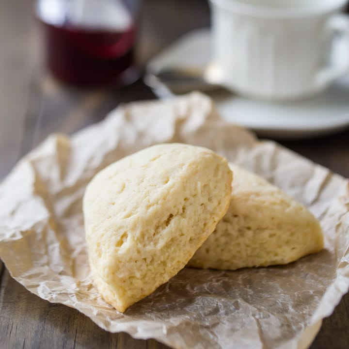 Basic Scone Recipe: moist, buttery, and melt-in-your-mouth plain scones.