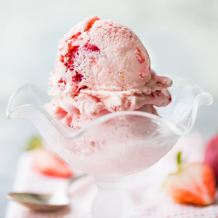 Easy Strawberry Ice Cream No Eggs No Cook No Churn Baking A Moment