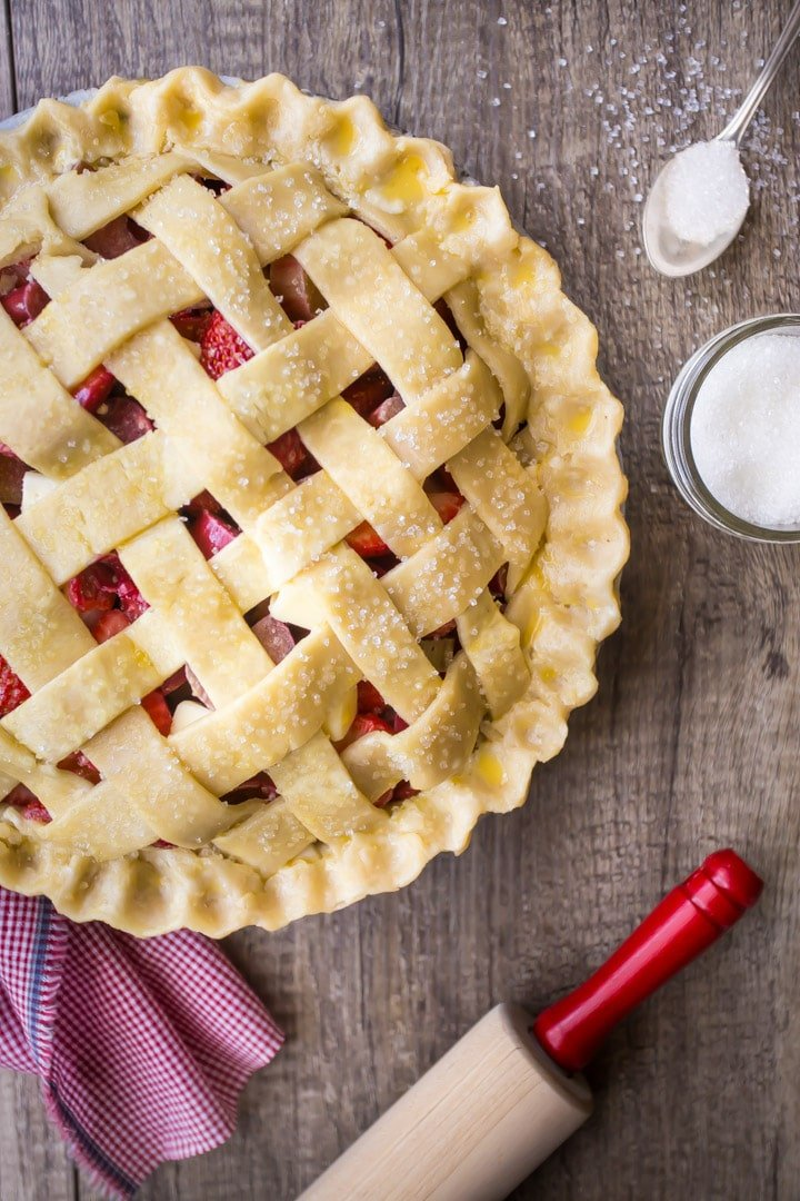 How to Do a Lattice Pie Crust Simple Tutorial.
