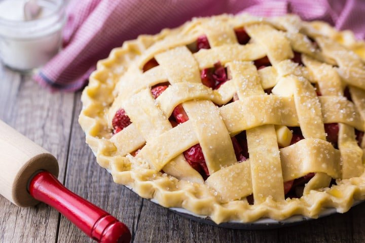 Easy Lattice Top Pie Crust Tutorial.