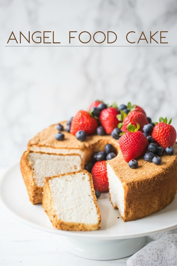 Easy Angel Food Cake Recipe Homemade From Scratch