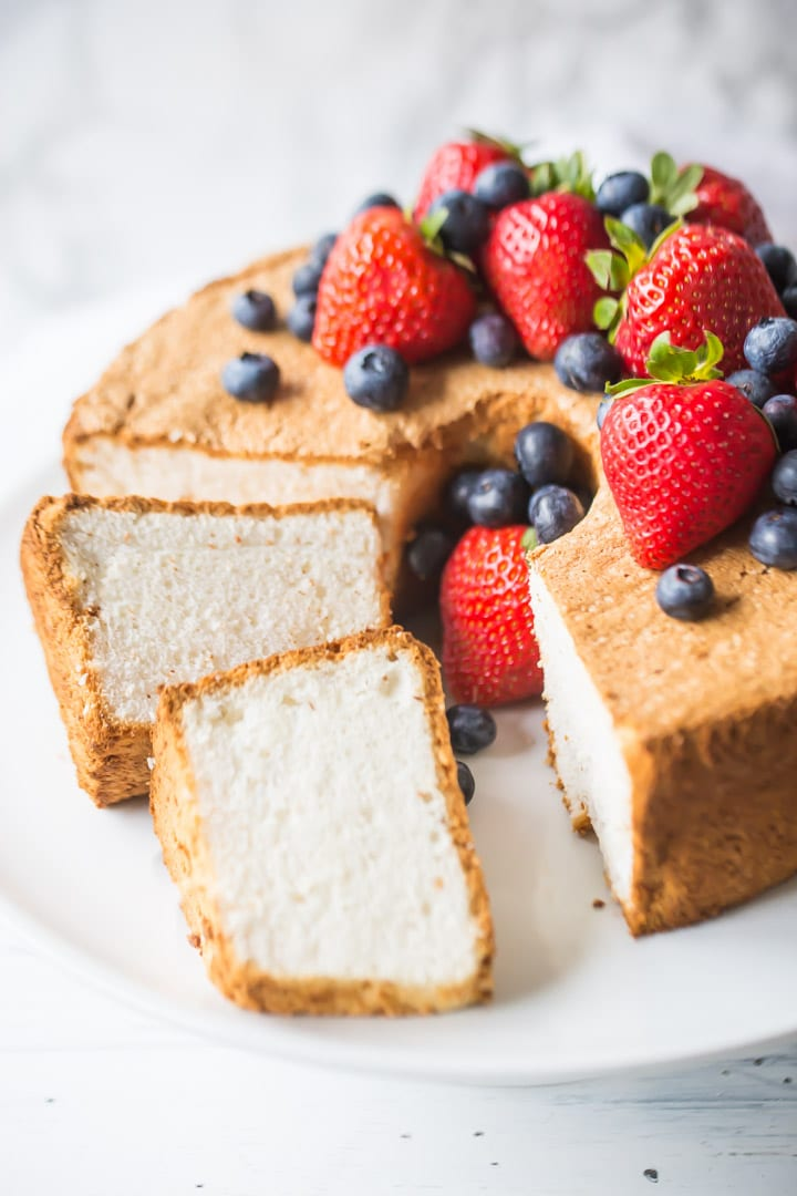 Simple Angel Food Cake Recipe Homemade From Scratch