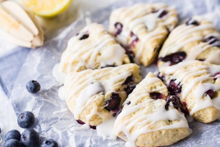 Moist Lemon Blueberry Scone Recipe