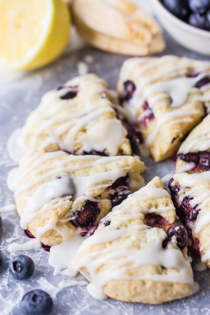 Simple Lemon Blueberry Scones Recipe