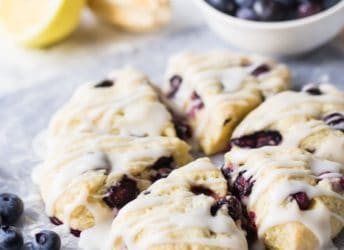 Easy Lemon Blueberry Scones Recipe