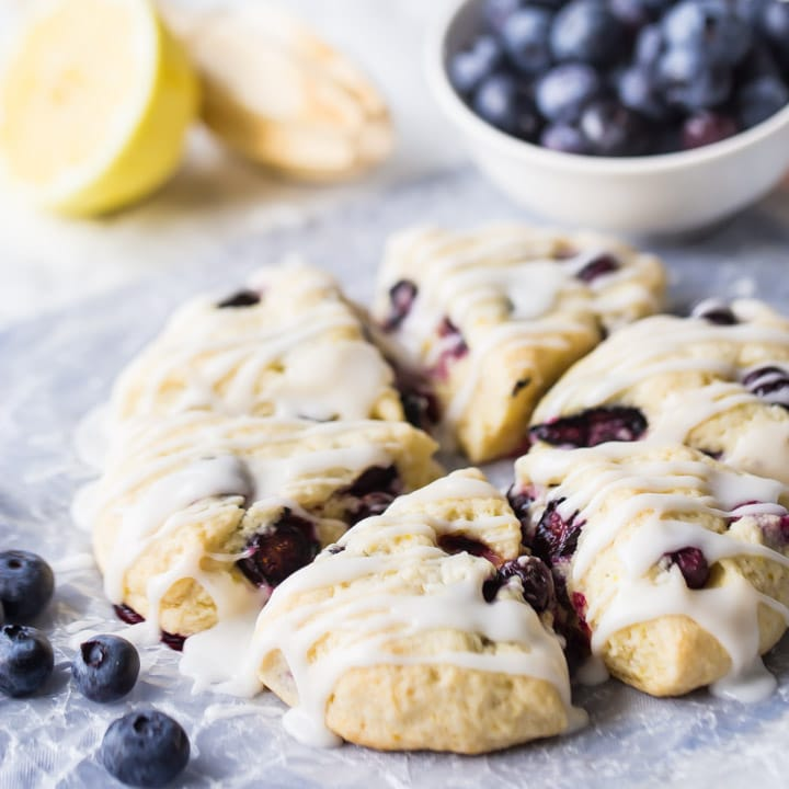 Easy Lemon Blueberry Scones Recipe