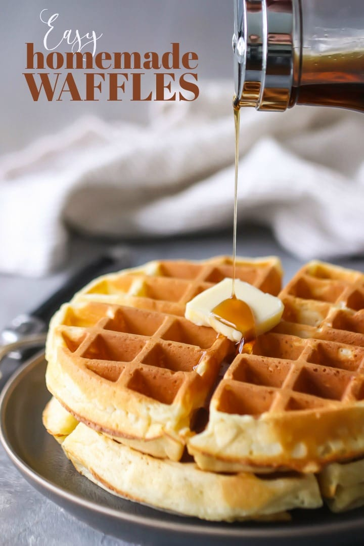 Homemade Waffle Recipe: Best Ever & So Easy! -Baking A Moment