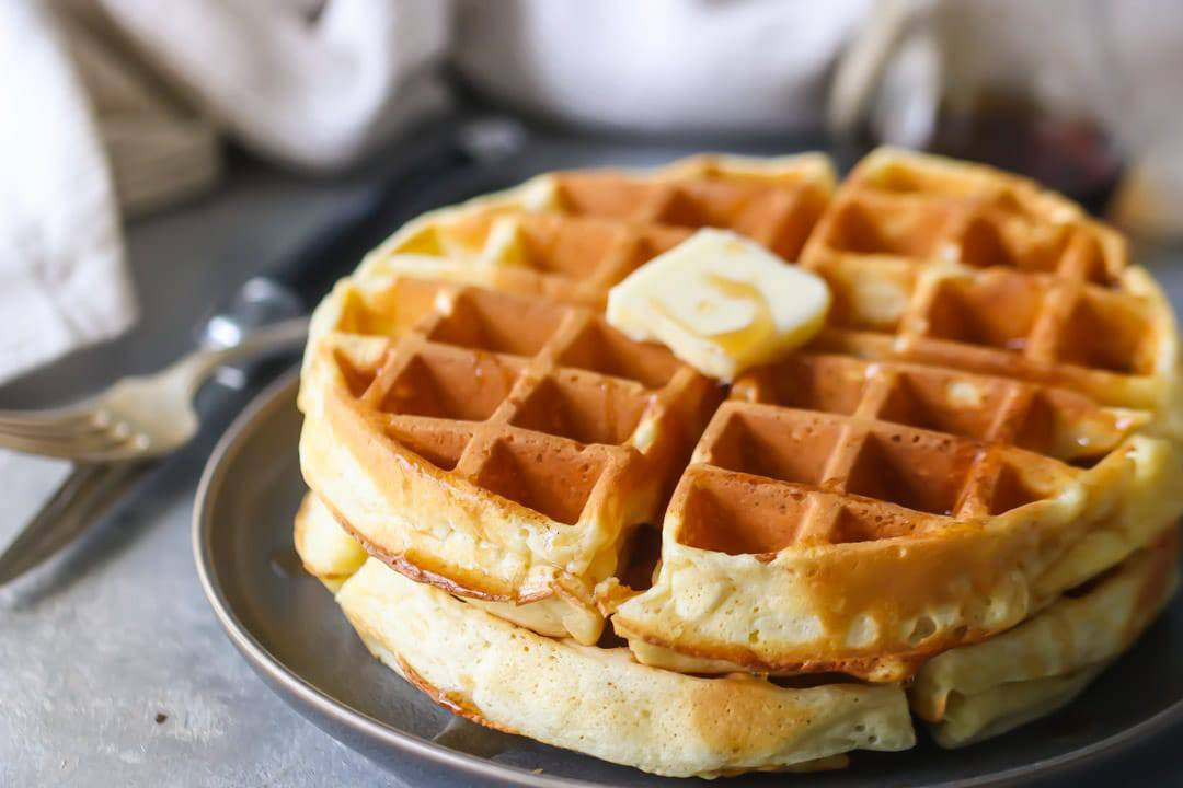 Fluffy Buttermilk Waffles from Scratch