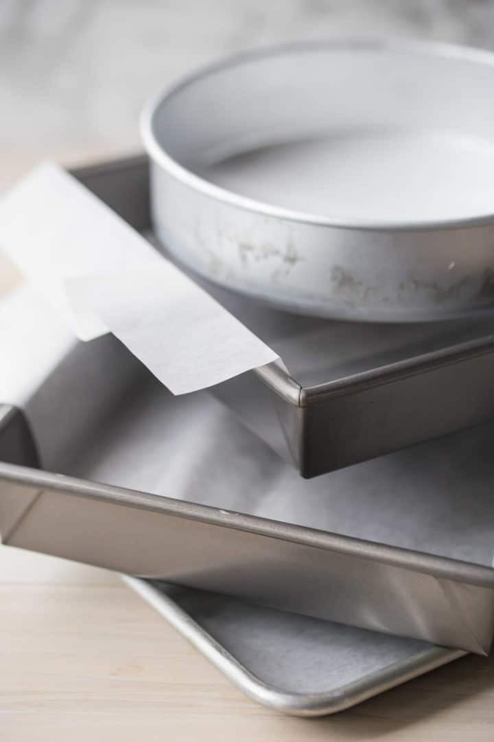 How to Line Cake Pans with Parchment