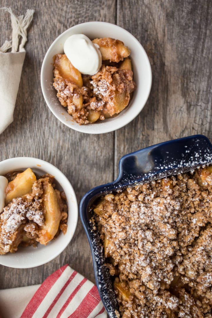 can you make apple crisp without flour