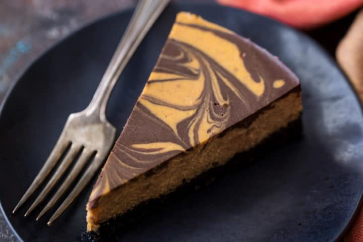 Pumpkin Spice Chocolate Cheesecake