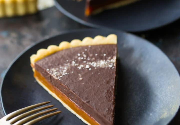 Best Caramel Chocolate Tart