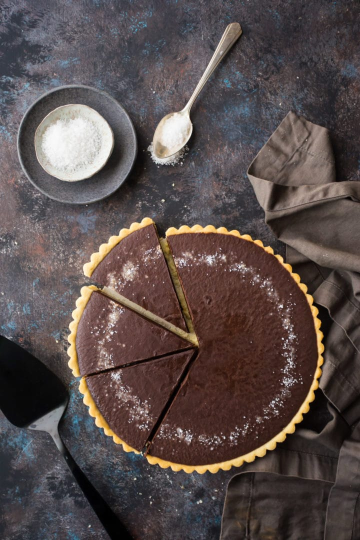 Classic Salted Caramel Fudge Pie