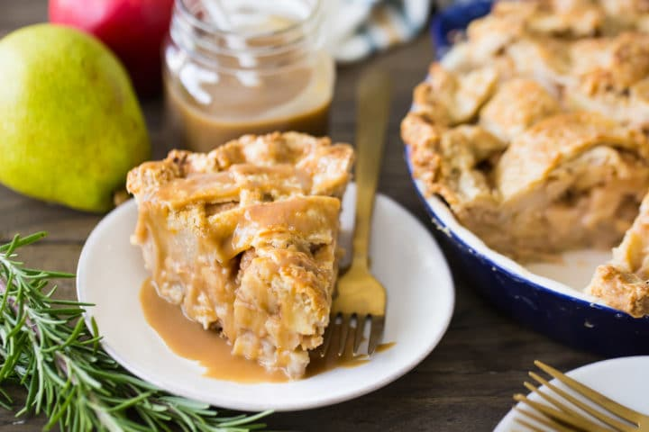 Apple Pear Pie Butterscotch Sauce