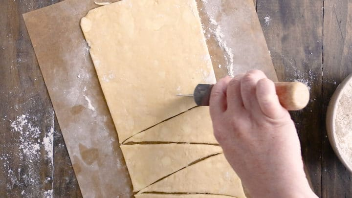 Homemade Crescent Rolls: Cutting Triangles