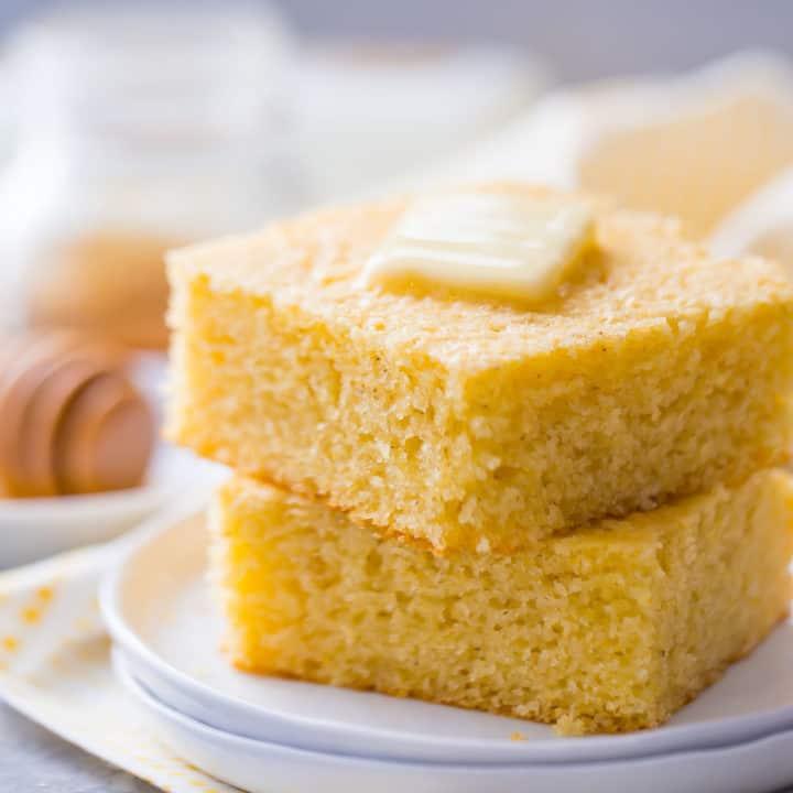 Moist & Sweet Cornbread: So Light & Fluffy With Crispy
