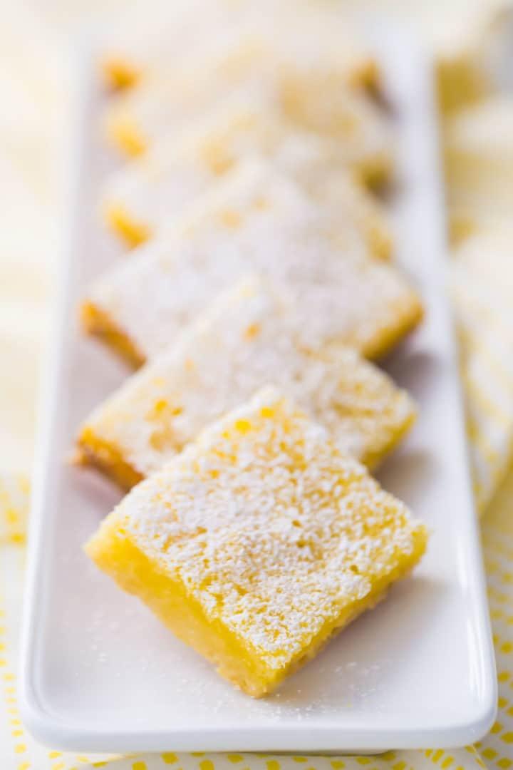 Receita perfeita das barras de limão
