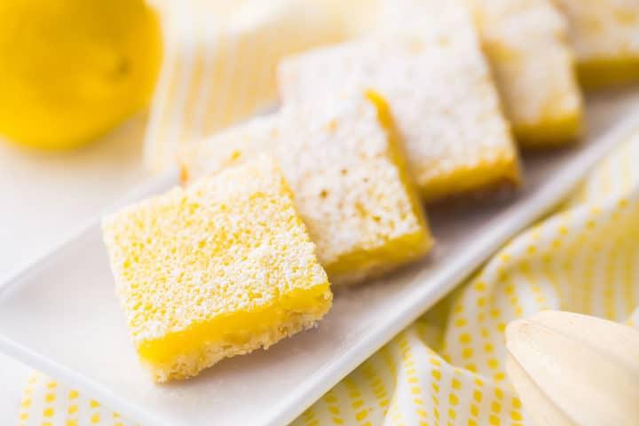 Receita antiquado das barras de limão