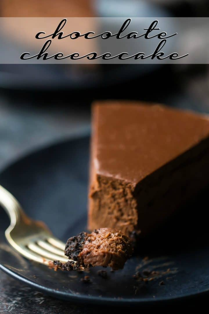 Chocolate Cheesecake Baking A Moment