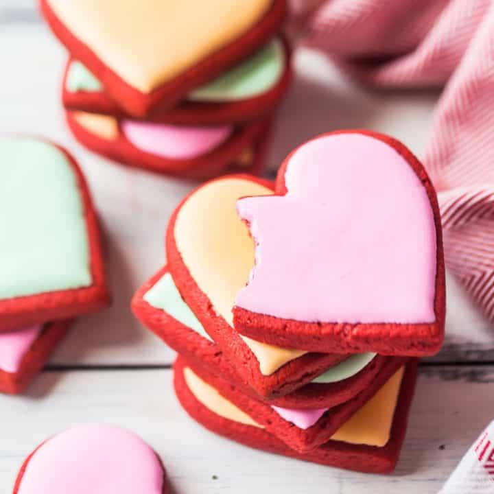 Best Red Velvet Sugar Cookies