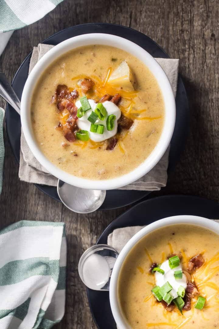 One-Pot Loaded Baked Potato Soup Recipe