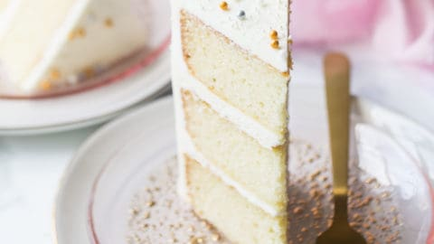 White Almond Sour Cream Cake
