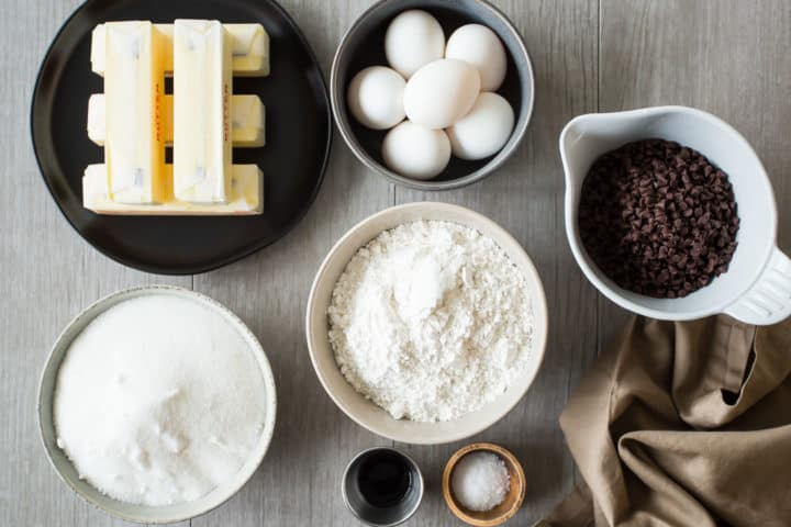 Chocolate Chip Cake Ingredients