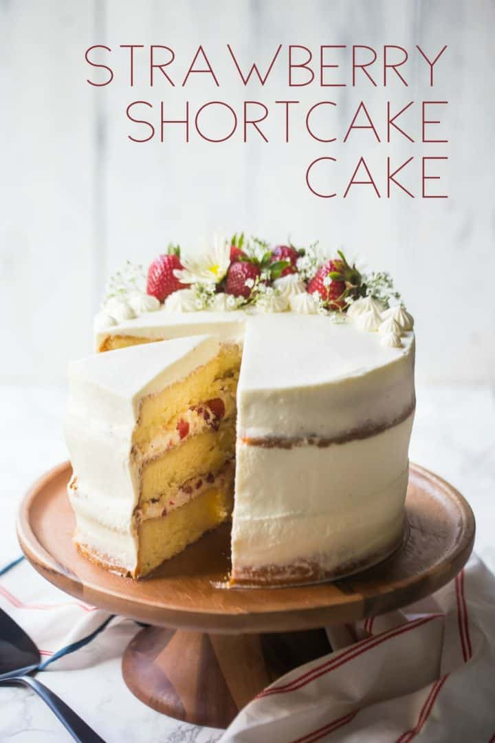 Outstanding Strawberry Shortcake Cake So Summery Fresh Baking A Moment Personalised Birthday Cards Cominlily Jamesorg