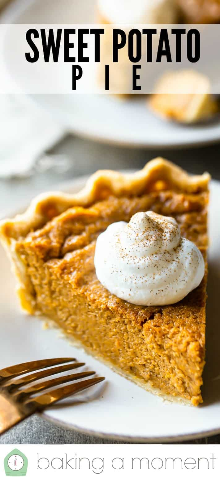 Sweet potato pie recipe pin 1.