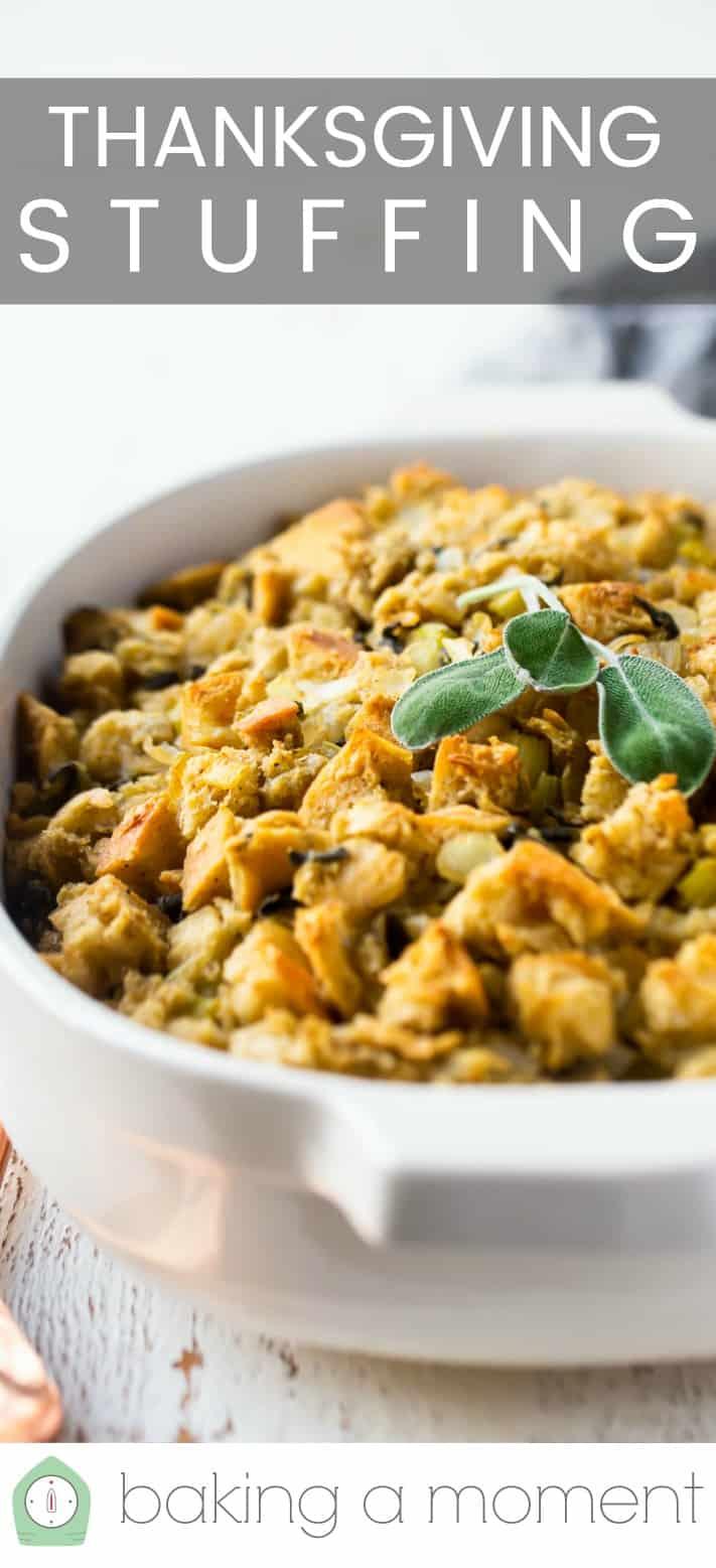 Thanksgiving stuffing recipe pin 2.