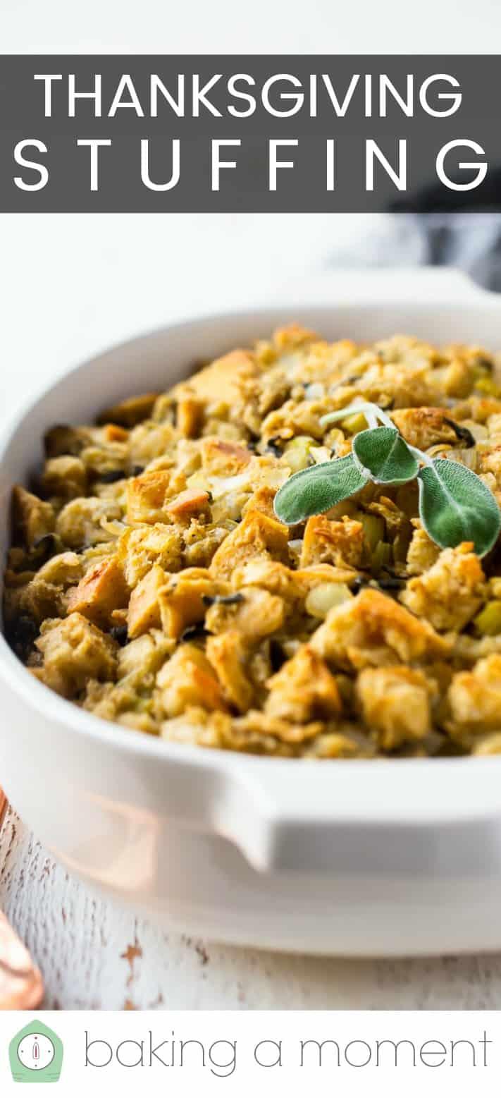 Thanksgiving stuffing recipe pin 3.