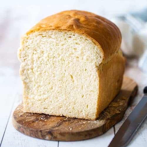 Soft White Bread Recipe: easy to make & so fluffy! -Baking a Moment