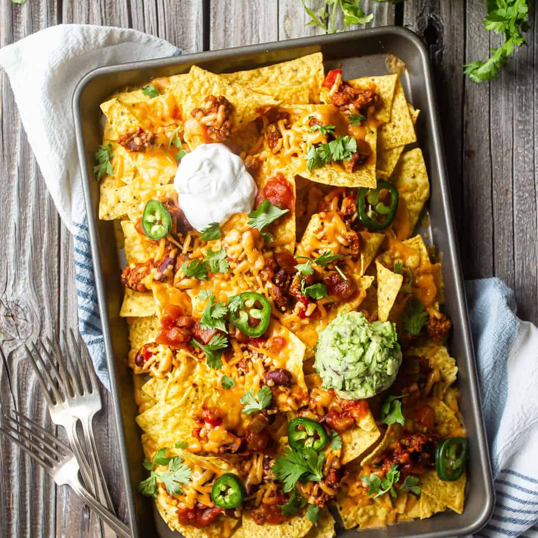 Sheet Pan Nachos Recipe Serves A Big Crowd Baking A Moment