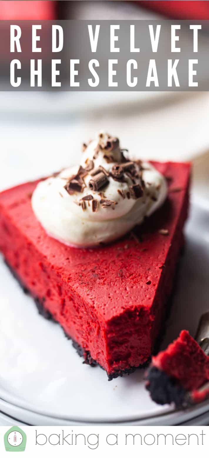 Red velvet cheesecake recipe pin 2.