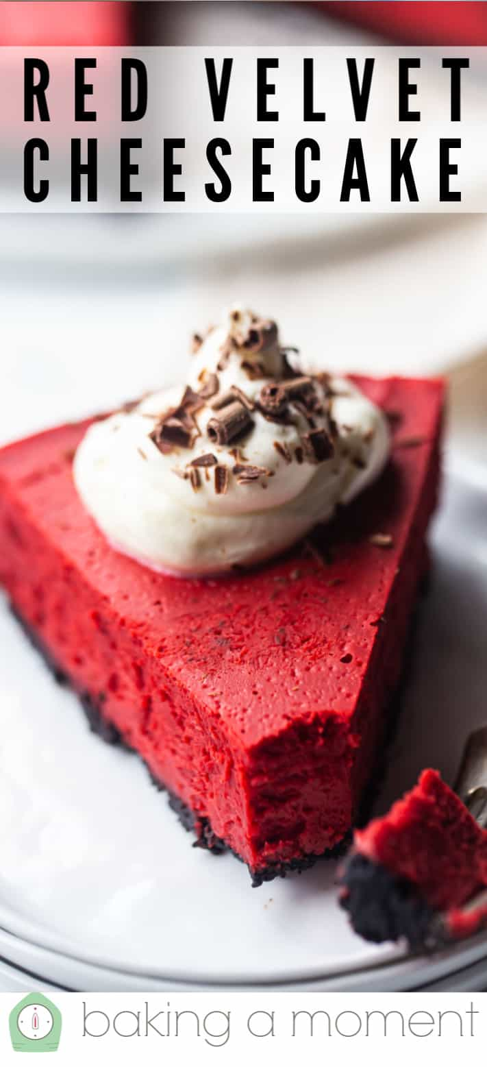 Red velvet cheesecake recipe pin 3.