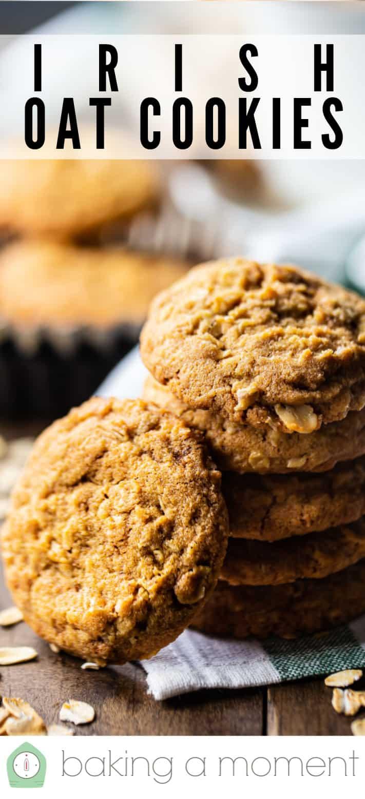 Oatmeal cookie recipe pin 1.