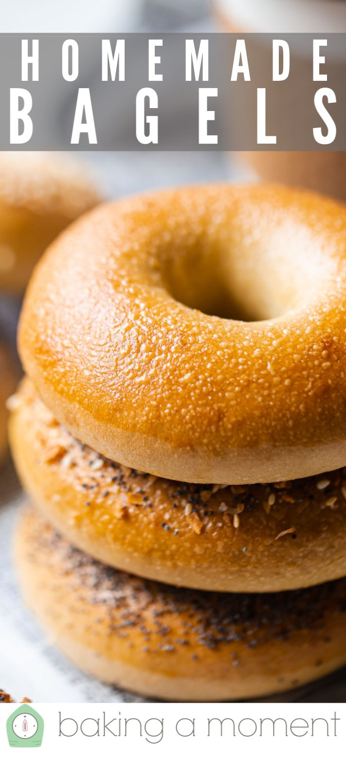 Bagel recipe made with all-purpose flour.